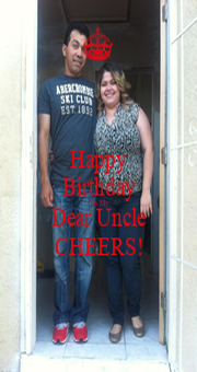 Happy Birthday To My Dear Uncle CHEERS! - Personalised Poster A1 size