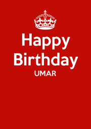 Happy Birthday UMAR   - Personalised Poster A1 size