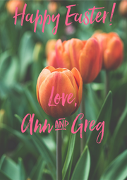Happy Easter!     Love,  Ann & Greg - Personalised Poster A4 size