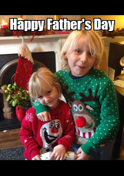 Happy Father's Day  - Personalised Poster A4 size