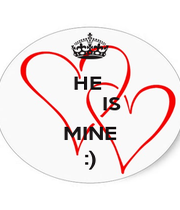 HE         IS  MINE :) - Personalised Poster A4 size