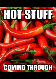 HOT STUFF COMING THROUGH - Personalised Poster A4 size