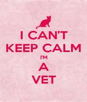 I CAN'T KEEP CALM I'M A VET - Personalised Poster A4 size
