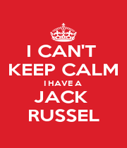 I CAN'T  KEEP CALM I HAVE A  JACK  RUSSEL - Personalised Poster A4 size