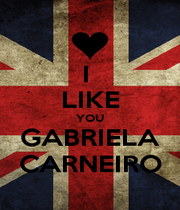 I  LIKE YOU GABRIELA CARNEIRO - Personalised Poster A1 size