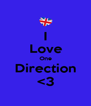 I Love One Direction <3 - Personalised Poster A4 size