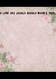 I love you jiggle giggle when I tickle you  - Personalised Poster A1 size