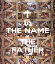 In THE NAME of THE FATHER - Personalised Poster A4 size