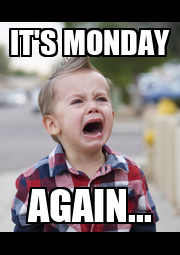 IT'S MONDAY AGAIN... - Personalised Poster A4 size