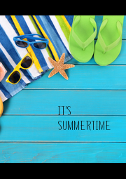 IT'S SUMMERTIME - Personalised Poster A4 size