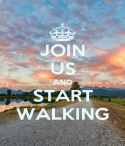 JOIN US AND START WALKING - Personalised Poster A1 size