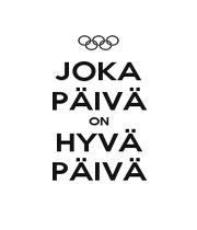 JOKA PÄIVÄ ON HYVÄ PÄIVÄ - Personalised Poster A1 size
