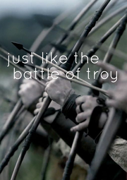 just like the  battle of  troy    - Personalised Poster A1 size