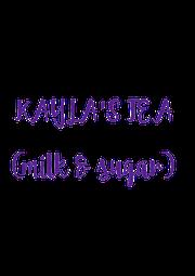 KAYLA'S TEA  (milk & sugar) - Personalised Poster A1 size