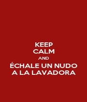 KEEP CALM AND ÉCHALE UN NUDO A LA LAVADORA - Personalised Poster A1 size