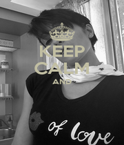 KEEP CALM AND   - Personalised Poster A4 size
