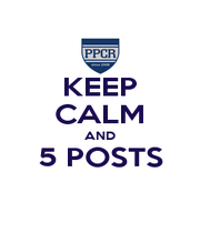 KEEP CALM AND 5 POSTS  - Personalised Poster A1 size