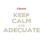 KEEP CALM AND ADECUATE  - Personalised Poster A1 size
