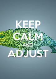 KEEP CALM AND ADJUST  - Personalised Poster A1 size