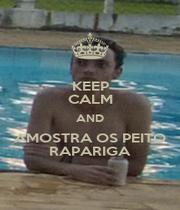 KEEP CALM AND AMOSTRA OS PEITO RAPARIGA - Personalised Poster A4 size