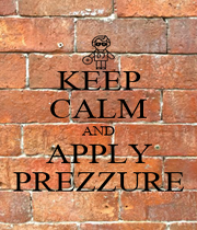 KEEP CALM AND APPLY PREZZURE - Personalised Poster A1 size