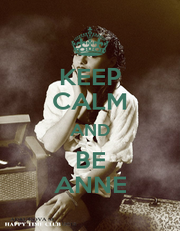 KEEP CALM AND BE ANNE - Personalised Poster A1 size
