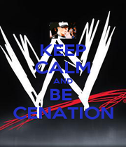 KEEP CALM AND BE  CENATION - Personalised Poster A1 size
