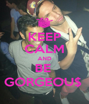 KEEP CALM AND BE  GORGEOU$  - Personalised Poster A1 size