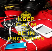 KEEP CALM AND BE IN PROGRESS - Personalised Poster A1 size