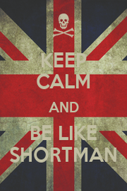 KEEP CALM AND BE LIKE SHORTMAN - Personalised Poster A4 size