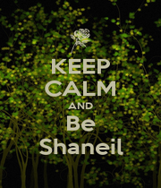 KEEP CALM AND Be Shaneil - Personalised Poster A1 size