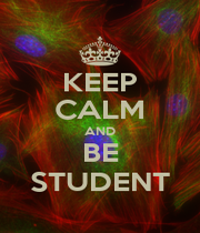 KEEP CALM AND BE STUDENT - Personalised Poster A1 size