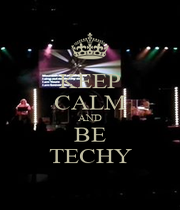 KEEP CALM AND BE TECHY - Personalised Poster A4 size