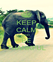 KEEP CALM AND BE THANKFUL - Personalised Poster A1 size