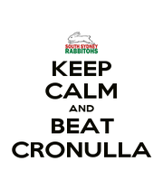 KEEP CALM AND BEAT CRONULLA - Personalised Poster A1 size