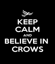 KEEP CALM AND BELIEVE IN  CROWS - Personalised Poster A1 size