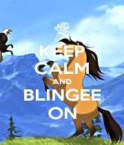 KEEP CALM AND BLINGEE ON - Personalised Poster A1 size