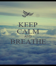 KEEP CALM AND BREATHE  - Personalised Poster A4 size
