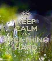 KEEP CALM AND BREATHING HARD - Personalised Poster A1 size