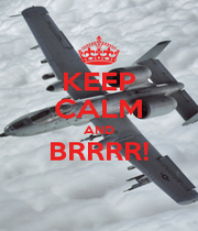 KEEP CALM AND BRRRR!  - Personalised Poster A1 size