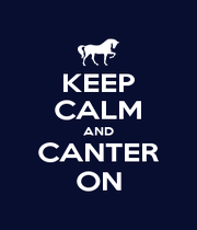 KEEP CALM AND CANTER ON - Personalised Poster A4 size