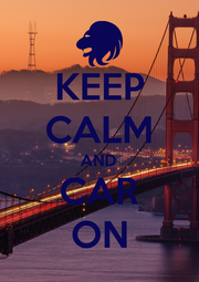 KEEP CALM AND CAR ON - Personalised Poster A1 size
