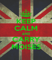 KEEP CALM AND CARRY MOISES - Personalised Poster A1 size