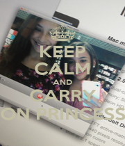 KEEP CALM AND CARRY ON PRINCESS - Personalised Poster A1 size