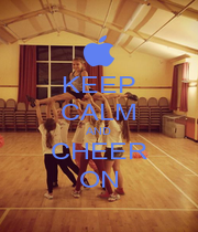 KEEP CALM AND CHEER ON - Personalised Poster A1 size
