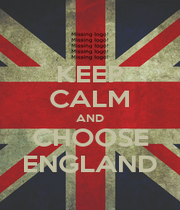 KEEP CALM AND CHOOSE ENGLAND - Personalised Poster A1 size