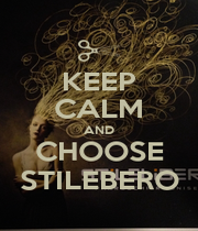 KEEP CALM AND CHOOSE STILEBERO - Personalised Poster A1 size