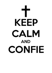 KEEP CALM AND CONFIE  - Personalised Poster A4 size