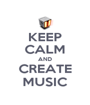 KEEP CALM AND CREATE MUSIC - Personalised Poster A1 size