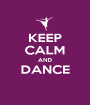 KEEP CALM AND DANCE  - Personalised Poster A4 size